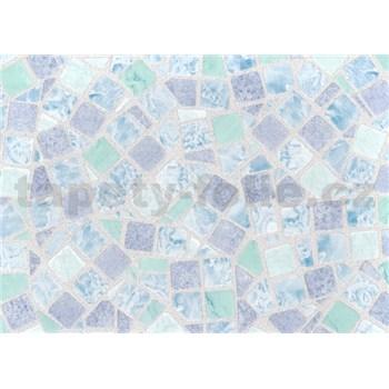 Samolepiace tapety - mozaika modrá, metráž, šírka 67,5 cm, návin 15m,