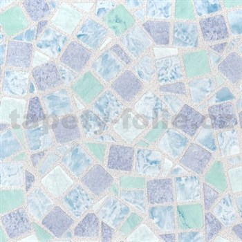 Samolepiace tapety - mozaika modrá 90 cm x 15 m