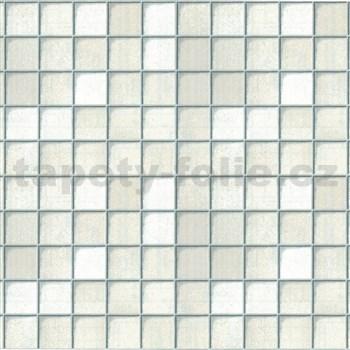 Samolepiace tapety - malé kachličky - biele, metráž, šírka 67,5 cm, návin 15m,