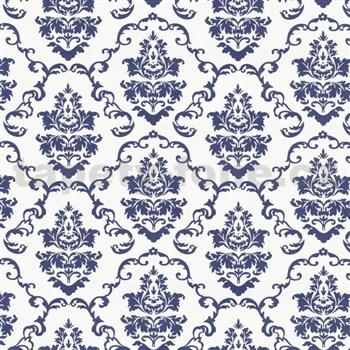Samolepiace tapety ornamenty modré - metráž, šírka 67,5 cm, návin 15m,