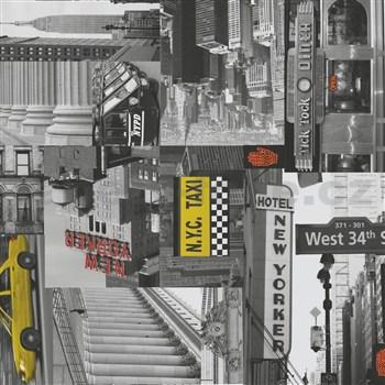 Samolepiace tapety City taxi - metráž, šírka 67,5 cm, návin 15m,