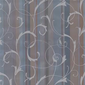 Samolepiace tapety ornamenty s pruhmi - modré, metráž, šírka 67,5 cm, návin 15m,