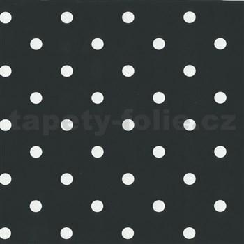Samolepiace tapety bodky čierne 45 cm x 15 m