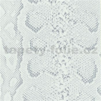 Samolepiace tapety koža hada biela 45 cm x 15 m