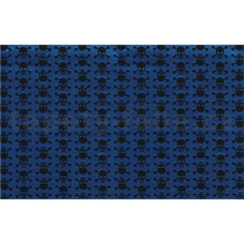 Samolepiace tapety lebky modro-čierne 45 cm x 15 m