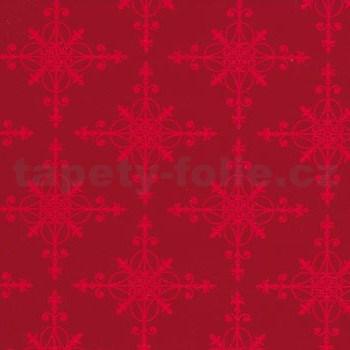 Samolepiace tapety snehové vločky červené 45 cm x 15 m