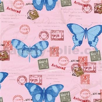 Samolepiace tapety motýle 45 cm x 15 m