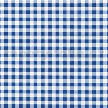 Samolepiace tapety káro modré 45 cm x 15 m