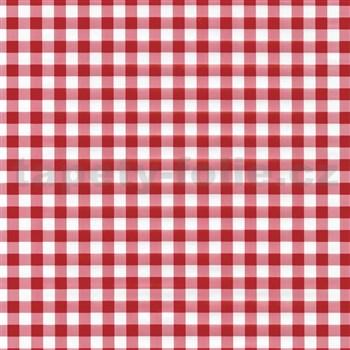 Samolepiace tapety káro červené 45 cm x 15 m
