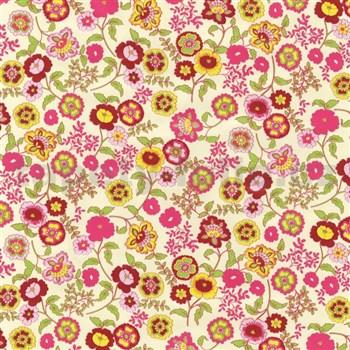 Samolepiace tapety kvety farebné 45 cm x 15 m