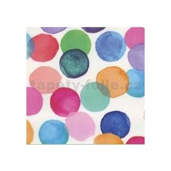 Samolepiace tapety bodky farebné 45 cm x 15 m