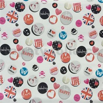 Samolepiace tapety Buttons 45 cm x 15 m