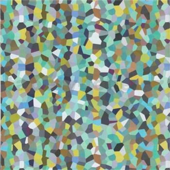 Samolepiace tapety štvorčeky modro-zelené 45 cm x 15 m
