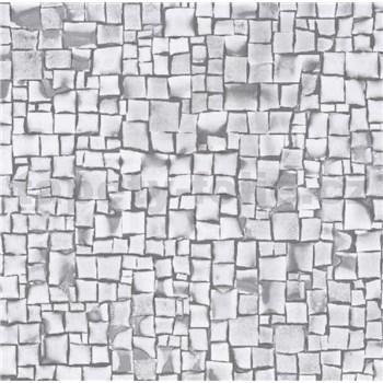 Samolepiace tapety 3D kocky sivé 45 cm x 15 m