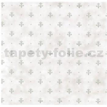 Samolepiaca fólia kašmírový vzor sivý na krémovom podklade- 45 cm x 15 m