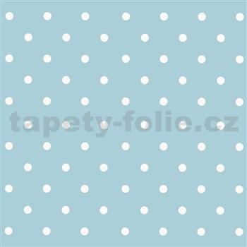 Samolepiace fólie bodky svetlo modré - 45 cm x 15 m