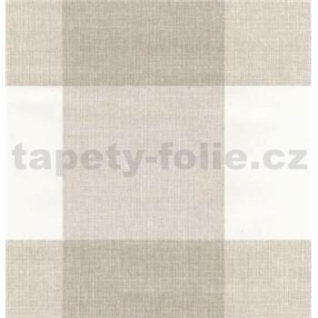 Samolepiaca fólia štvorce hnedo-biele - 45cm x 15 m