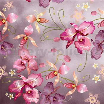 Samolepiace fólie ružová orchidea ružovozlatá - 45 cm x 5 m