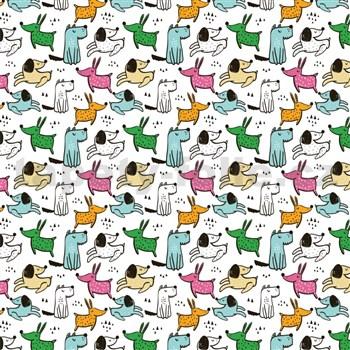 Samolepiace fólie detské - psíkovia - 45 cm x 15 m