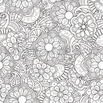 Samolepiaca tabuľová fólia Flowers - maľovanky - 67,5 cm x 1,5 m