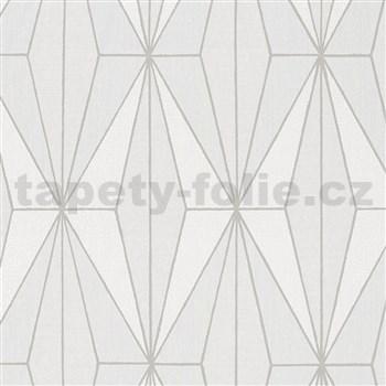 Vliesové tapety na stenu IMPOL Giulia Art-Deco vzor krémový so striebornými kontúrami