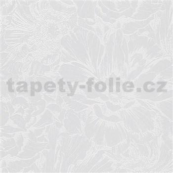 Vliesové tapety na stenu IMPOL Giulia kvetová koláž sivá