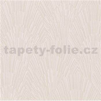 Vliesové tapety na stenu IMPOL Giulia Art-Deco vejárový vzor béžový