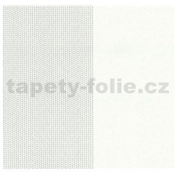 Vliesové tapety na stenu Glamour kolieska strieborná na bielom podklade