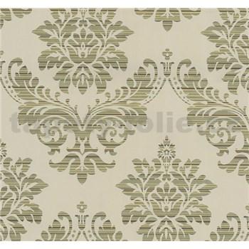 Vliesové tapety na stenu Glamour zámocký vzor zlatý na béžovom podklade