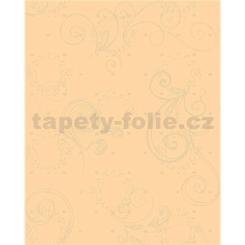 Tapety Glööckler Childrens Paradise - kúzelné zrkadlo zlaté na oranžovom podklade MEGA ZĽAVA