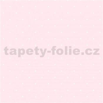 Vliesové tapety na stenu bodky na svetlo ružovom podklade