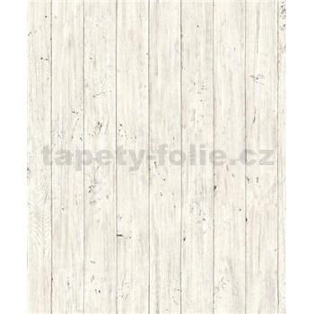 Vliesové tapety na stenu Facade drevené dosky svetlo sivé