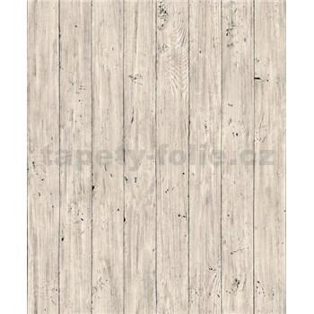 Vliesové tapety na stenu Facade drevené dosky svetlo béžové
