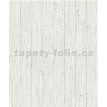 Vliesové tapety na stenu Facade drevené dosky svetlo bielo-sivé
