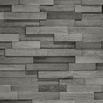 Vliesové tapety na stenu Facade drevený obklad sivý