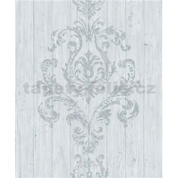 Vliesové tapety na stenu Facade drevený obklad s ornamentom