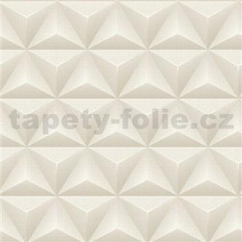 Vliesové tapety 3D geometrie svetlo hnedá