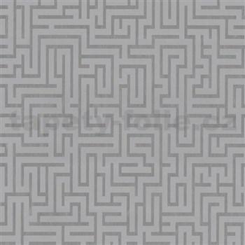 Vliesové tapety na stenu Graphics Alive - Labyrint strieborný - MEGA ZĽAVA