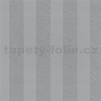 Vliesové tapety na stenu Graphics Alive - pruhy Labyrint strieborné