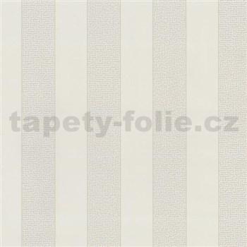 Vliesové tapety na stenu Graphics Alive - pruhy Labyrint svetlo hnedé