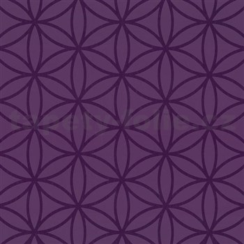 Vliesové tapety na stenu Graphics Alive - geometrické kvety fialové