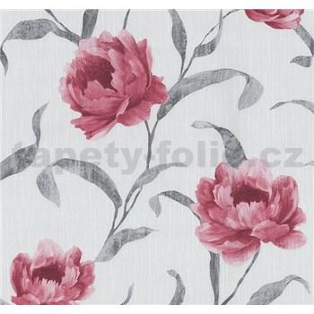 Tapety na stenu Graziosa kvety červené - POSLEDNÉ KUSY