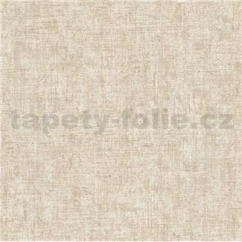 Vliesové tapety na stenu Greenery textilná štruktúra krémová