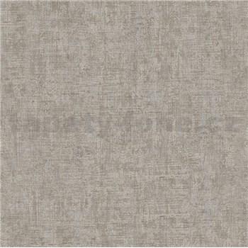 Vliesové tapety na stenu Greenery textilná štruktúra hnedá