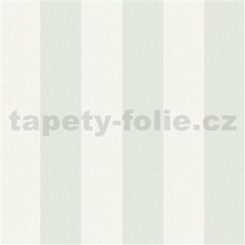 Vliesové tapety na stenu IMPOL Hailey pruhy svetlo zeleno-biele