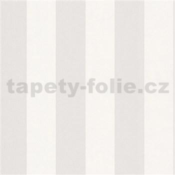 Vliesové tapety na stenu IMPOL Hailey pruhy bielo-hnedé