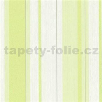 Vliesové tapety na stenu Happiness pruhy zelené