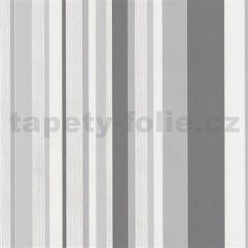 Tapety na stenu Happy Time - pruhy - sivé