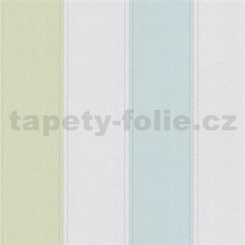 Papierové tapety na stenu Happy Kids 2 - pruhy modro-žlté