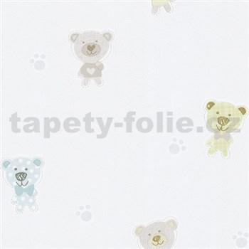 Papierové tapety na stenu Happy Kids 2 - medveď modrý , zelený , hnedý